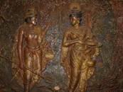 Dantakumara and Hemamala bringing the Tooth Relic to Sri Lanka - photograph by Anandajoti Bhikkhu